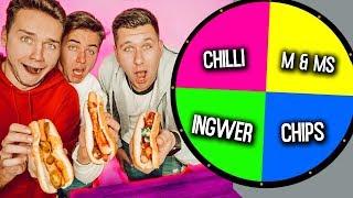 GLÜCKSRAD HOTDOG CHALLENGE! (1 Spin = 1 Mystery Zutat) | Max und Chris