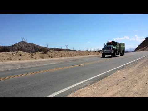 US Forest Service Fire Truck Responding Code 3