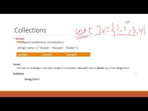 Part 6  - C# Programming Crash Course In Amharic - Array And List