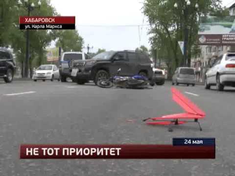 89 МотоДТП в Хабаровске  24.05.13 Sonic & Cruiser
