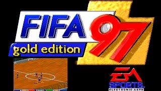 FIFA 97 Gold Edition indoor gameplay (Sega Mega Drive/Genesis).