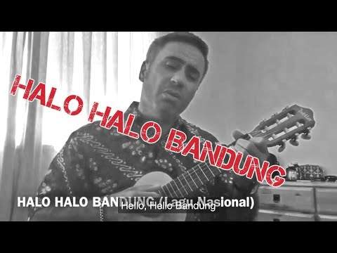 BULE nyanyi HALO HALO BANDUNG (Lagu Nasional) WITH ENGLISH SUBTITLES