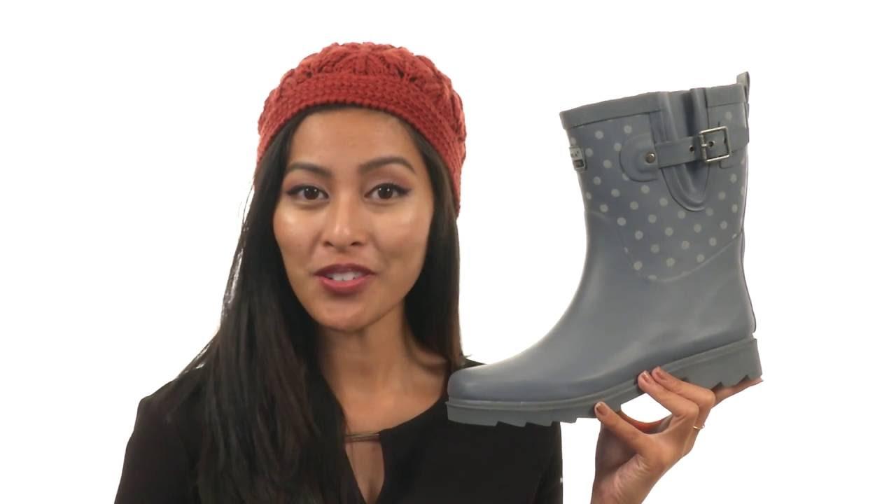 1f5bc797f7a4 Chooka Flash Dot Mid Rain Boot SKU 8745873 - YouTube