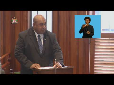Fijian Assistant Minister for Rural & Maritime Development's Response to the 2017-2018 Budget