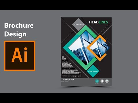 Modern brochure design in adobe illustrator