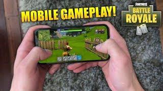 *NEW* Fortnite Gameplay On MOBILE (Fortnite: Battle Royale App)