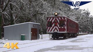 Diesel Electric Rail Motor in the Snow: Australian Trains in 4K
