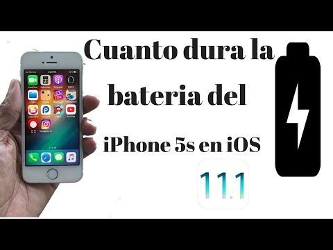 CUANTO DURA LA BATERIA DE iPhone 5s EN iOS 11.1BALE LA PENA ACTUALIZAR /
