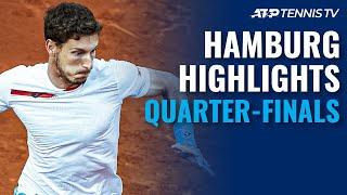 Tsitsipas Faces Krajinovic; Paire & Delbonis Clash   Hamburg 2021 Quarter-Final Highlights