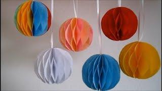 DIY decoration ball paper/dekorasi kamar dari kertas origami/home decor
