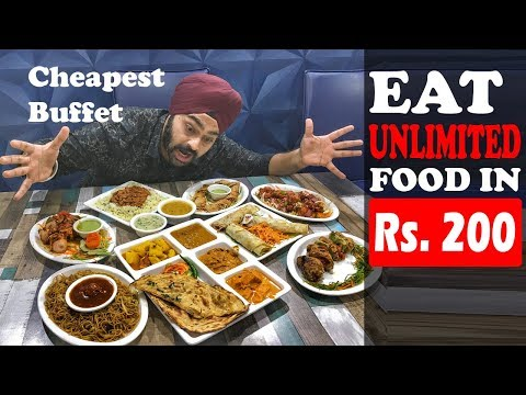 Rs 200 for UNLIMITED buffet 😱😮 | Cheapest BUFFET in Delhi NCR🔥🔥🔥
