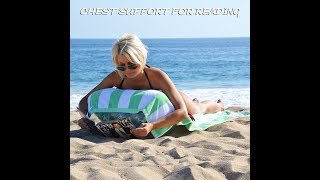 inflatable Air Wedge beach chair review & Upcoming kayak & fishing videos