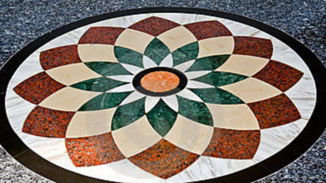Marble Flooring Flowers Designs Images - YouTube