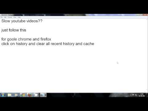 Slow YouTube Videos on Chrome And Firefox fix
