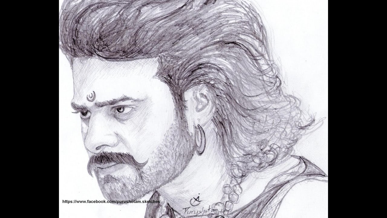 Drawing bahubali well trying to draw 😜