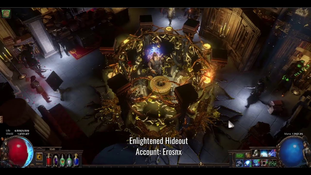 Enlightened Hideout Path Of Exile Youtube It uses the library tileset. enlightened hideout path of exile