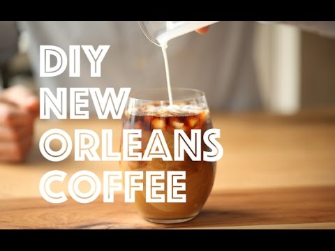 How To BREW Pour Over New Orleans Chicory Cafe Du Monde Blue Bottle Coffee Cafe Au Lait