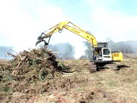 Forestry Site Rake & Burn - Excavator