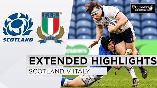Scotland v Italy EXTENDED Highlights Dominant Display in 9 Try Match 2021 Guinness Six Nations