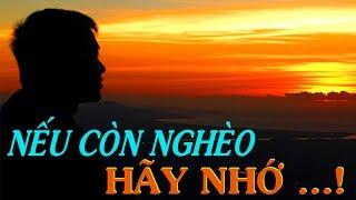 ✅NẾU BẠN CÒN NGHÈO HÃY NHỚ...- Thiền Đạo