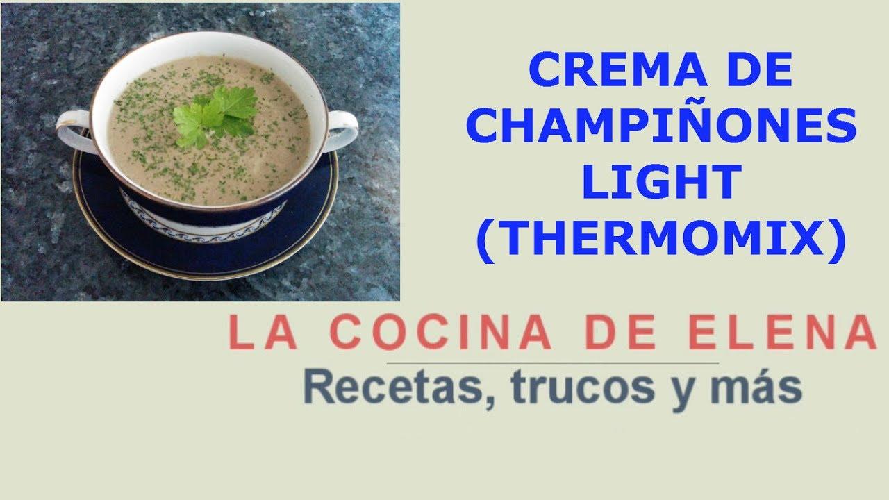 Como hacer crema de champinones sin leche ni nata
