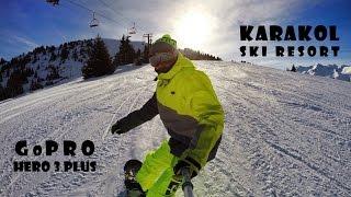 Karakol snowboarding with GoPRO   Каракол   декабрь 2014   Кыргызстан