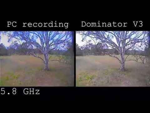 Analogue FPV recording: PC VS Dominator V3 DVR (5.8 and 1.3 GHz)