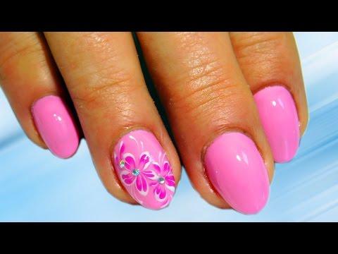 Мелкие розовые цветочки  Топ удивительный дизайн ногтей Красивый и простой Nail art design