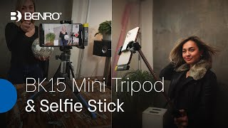 Benro BK15 Mini Tripod & Selfie Stick | The Perfect Content Creators Companion! ??
