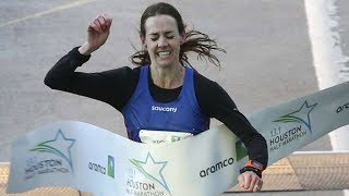 Houston Half Marathon 2018 - Women's Elite Finish