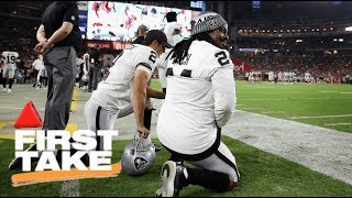 Michael Bennett And Marshawn Lynch Sit During National Anthem | First Take | ESPN