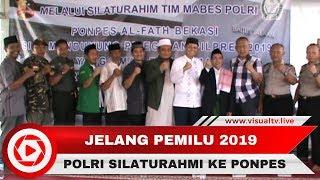 Cegah Isu Negatif Jelang Pemilu 2019, Kepolisian Silaturahmi ke Ponpes Al Fath Bekasi