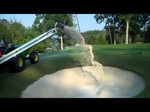 Dakota 440  Turf Tender  Adding Sand To Bunker