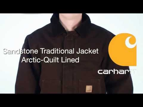 J22 Carhartt Sandstone Traditional Jacket - Arctic-Quilt Lined