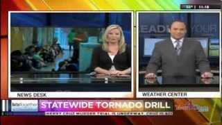 Virginia Statewide Tornado Drill 2014 Package - WHAG News at 11PM - 11 March 2014