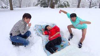 寝てる妹を雪山に遭難させた。正月に家族置き去り48時間