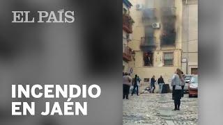 Un incendio en Jaén provoca cinco heridos