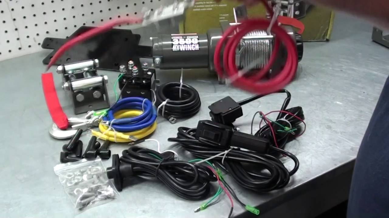 Pt.1 How To Install A Winch On Your ATV/UTV At D-Ray's Shop Harbor Freight Winch Wiring Diagram Hp Dc on