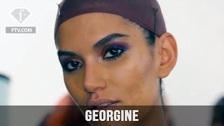 New York Fashion Week Fall/WItner 2017-18 - Georgine Make up | FTV.com