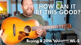 Buying a 2016 Waterloo WL-S made by @Collings Guitars I I can't put this guitar down.
