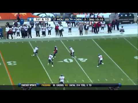 2010 Week 16 - Tim Tebow downfield completions vs. Texans
