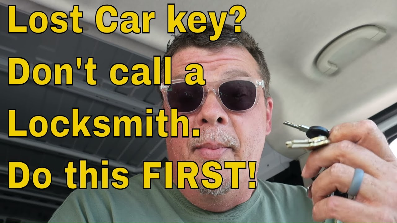 Lost Car Key Don T Call A Locksmith Do This First Youtube
