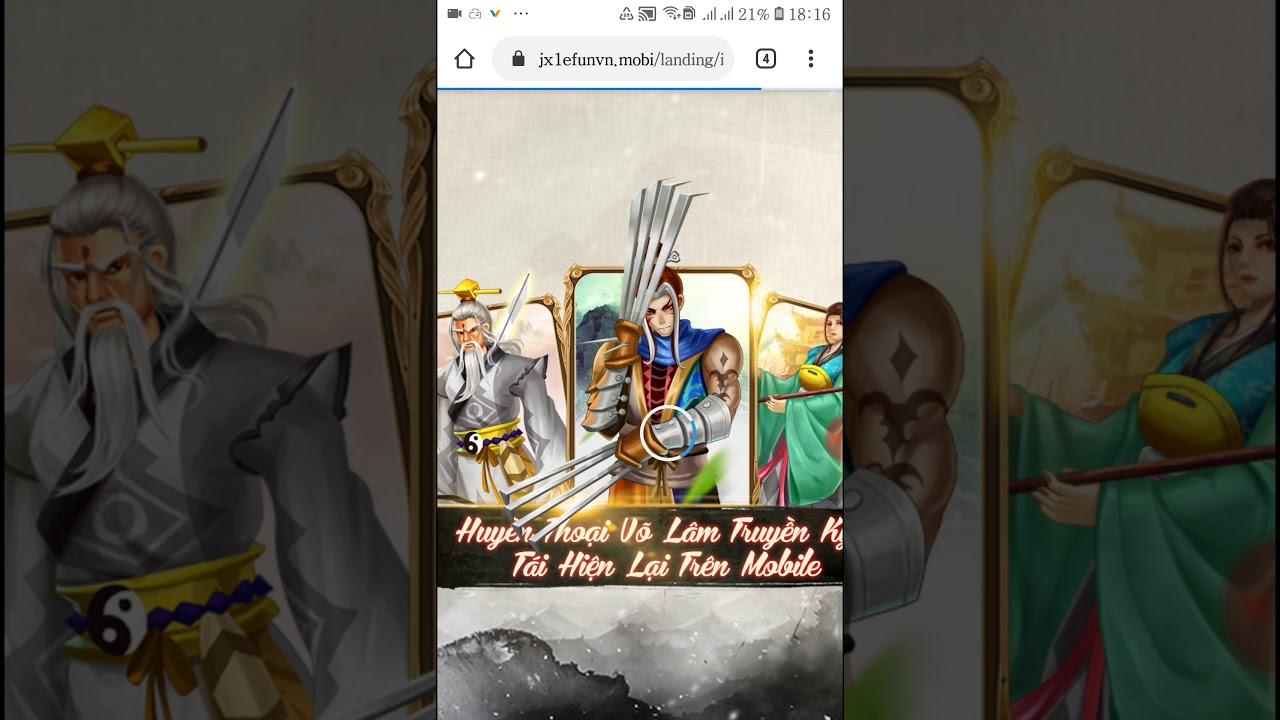 """[ JX1 EFun ] Hướng Dẫn """" Tải Game Trên HĐH Android & IOS """" – Tạo Tài Khoản Game VLTK I ~ JX1 EFun"""