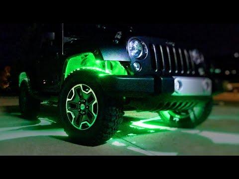 HOW to Install RGB ROCK LIGHTS Wireless Bluetooth(Jeep JK)