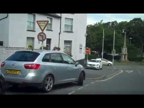 A Drive Through Builth Wells, Wales.