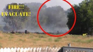 Dangerous fire by my house!