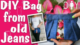 DIY BAG. Make a bag (Bag from old jeans)