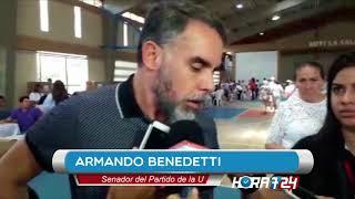 Votante increpa a Armando Benedetti y este lo llama