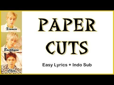 EXO CBX - PAPER CUTS Easy Lyrics By GOMAWO [Indo Sub]