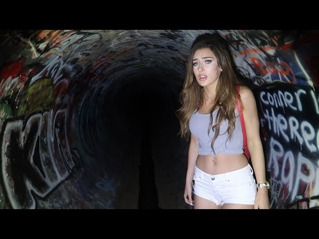 I TOOK MOLLY TO THE HAUNTED TUNNEL... **SHE CRIED**